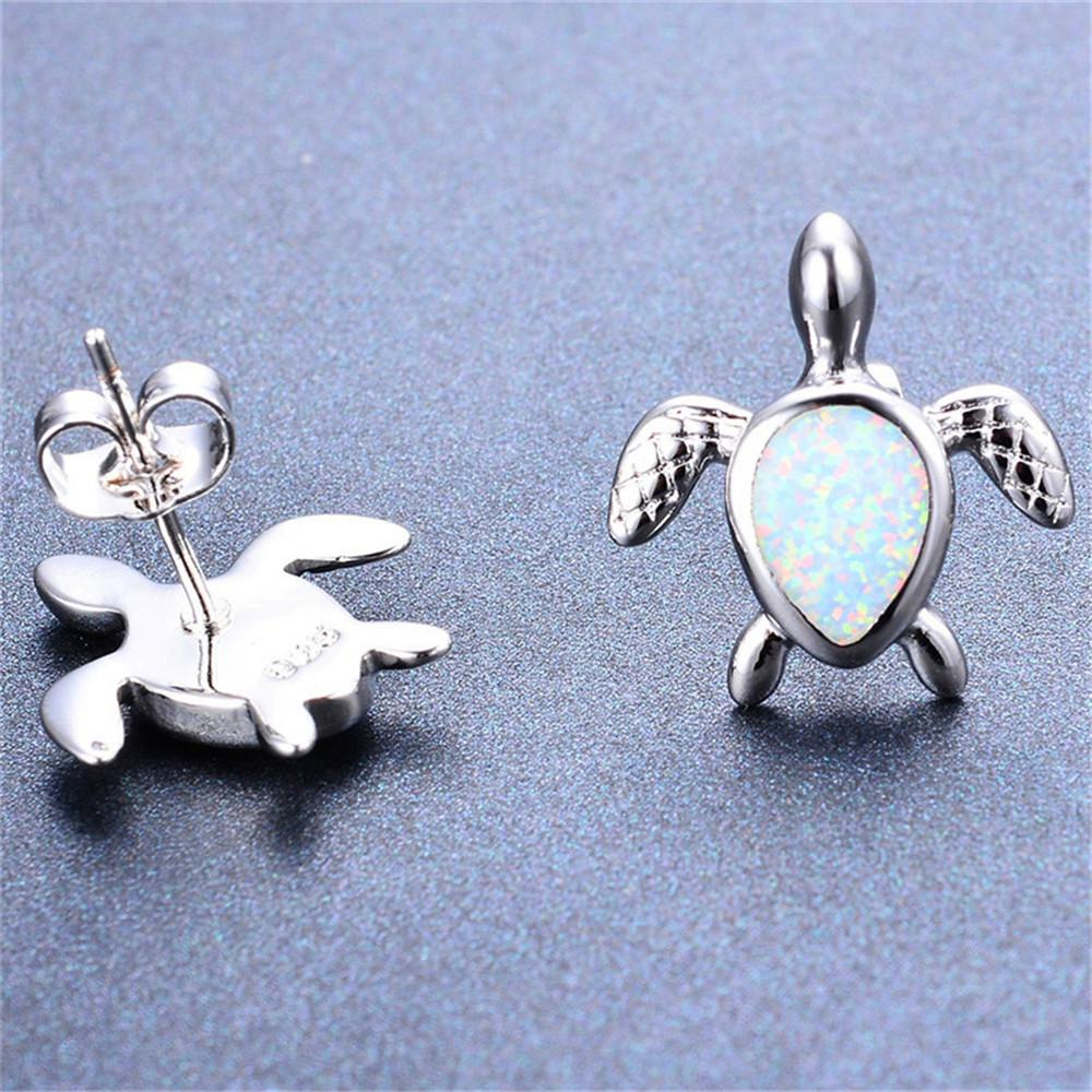 turtle opal earrings bamos white products jewelry yjp stud