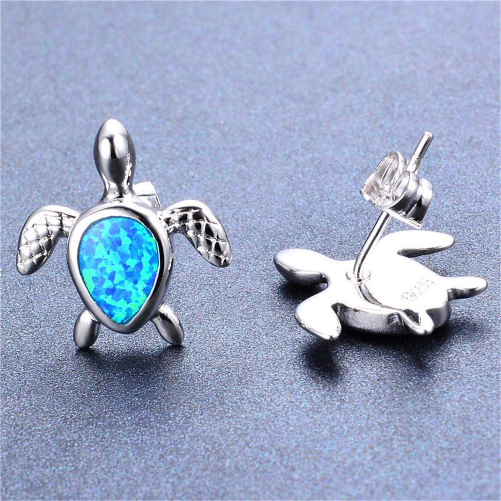 bamos turtle opal yjp products earrings white stud jewelry