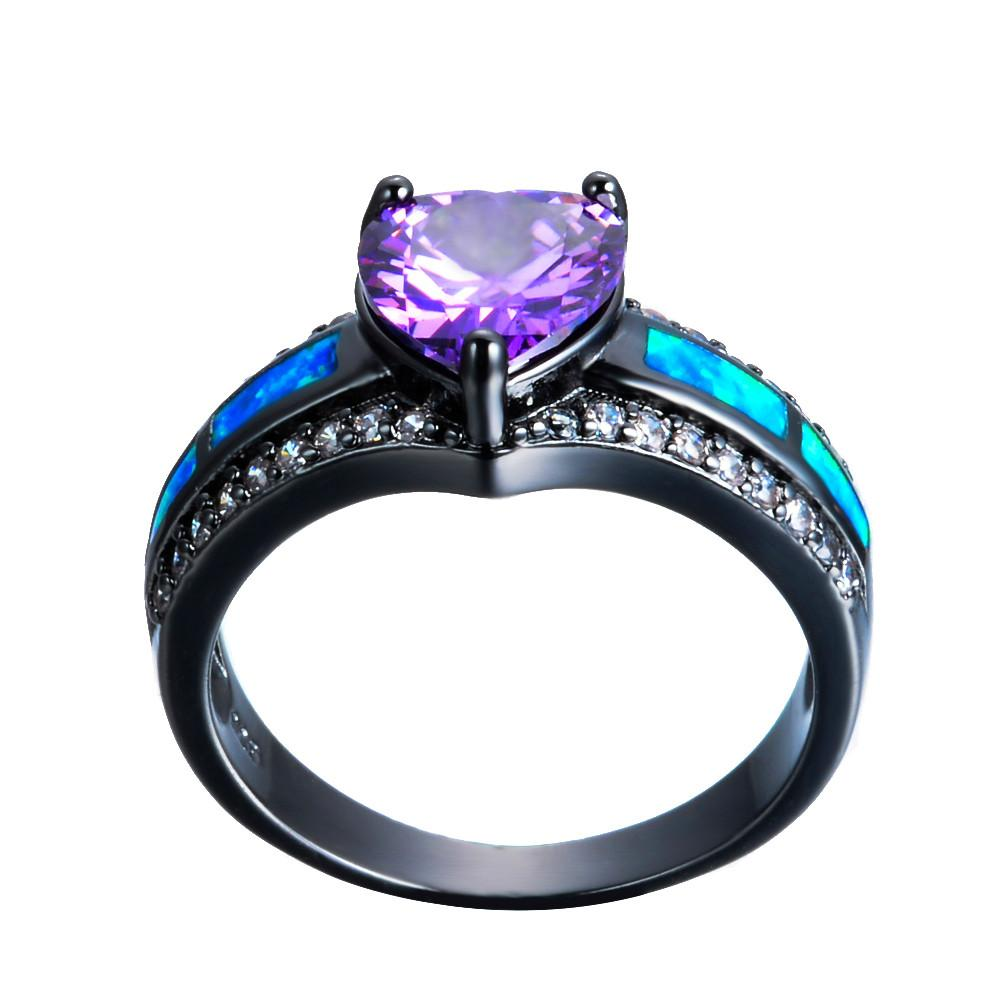 purple gemstone diamond img alternative ring heart wedding orange rings guide engagement the