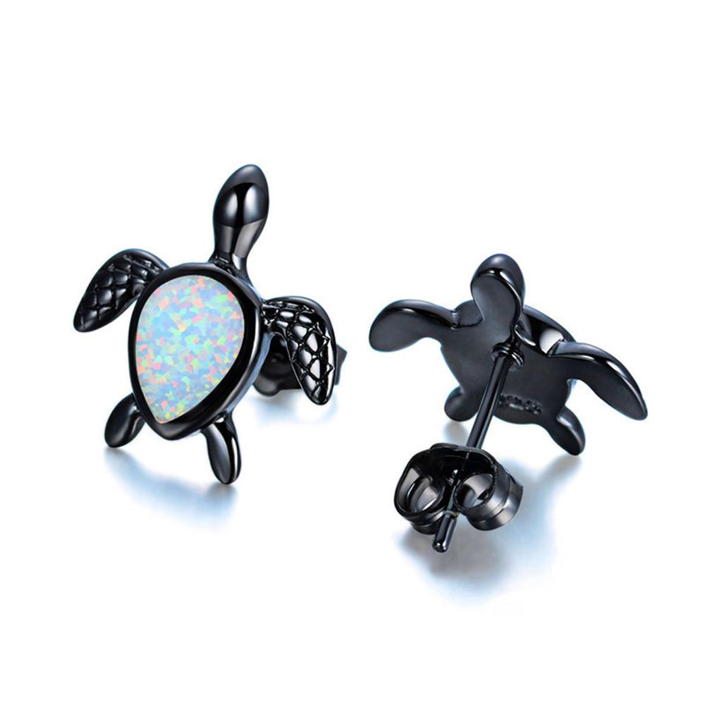 sea earrings stud turtle gems