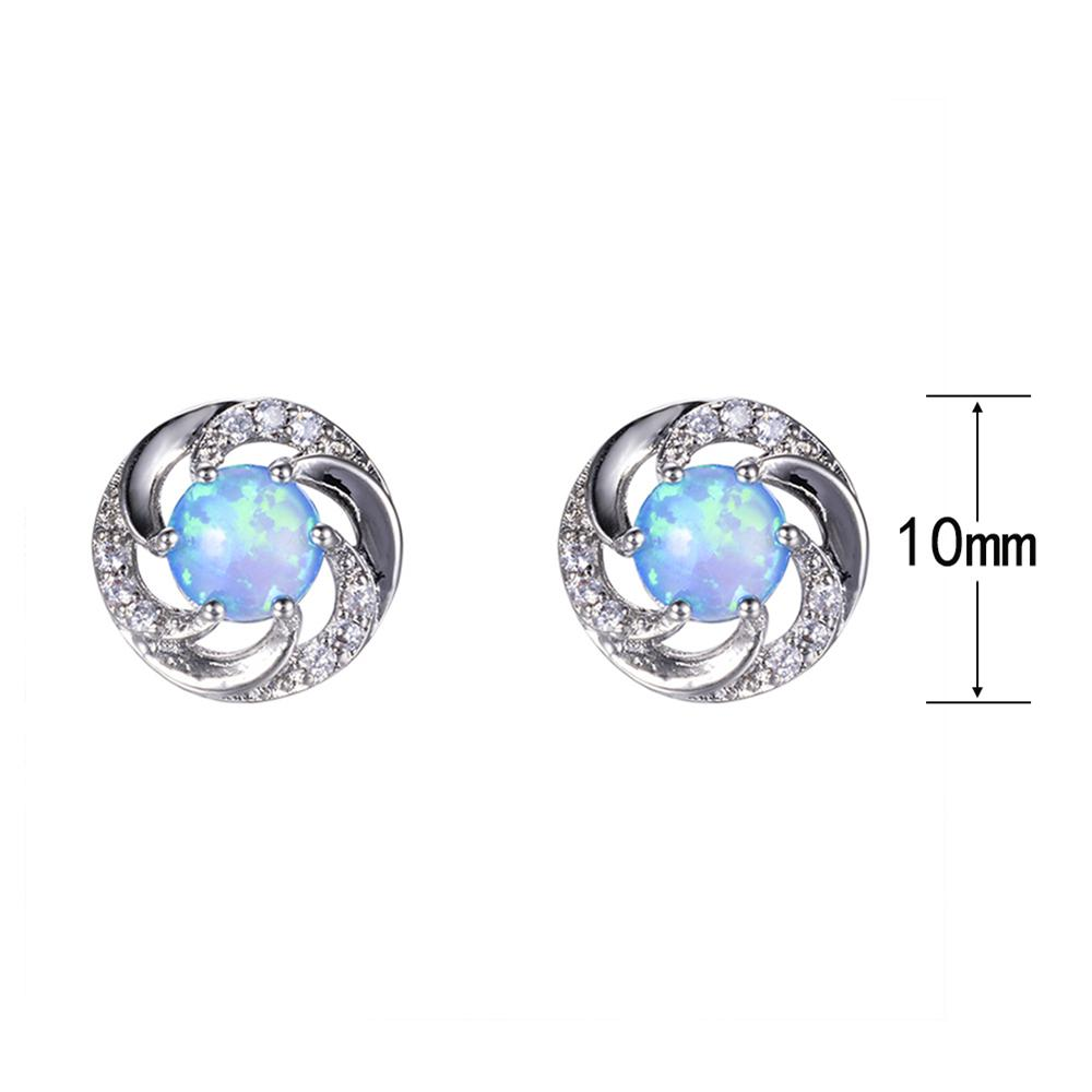 framed earrings round sterling silver rhodium earring stud colors products nadri cz plated