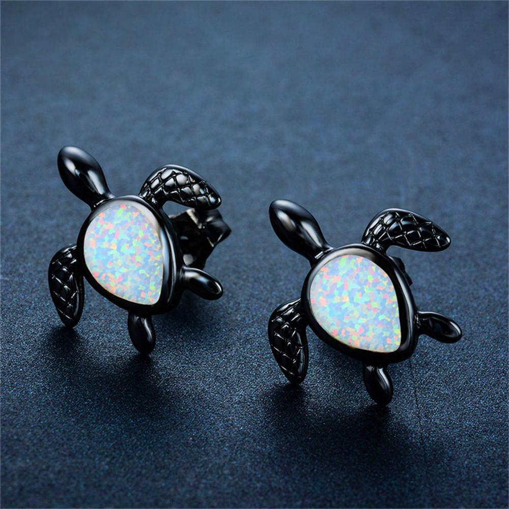sea gift beach silver stud earrings pin amethyst ocean sterling turtle