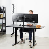 "Standing Health - VIVO Electric 60"" x 24"" Stand Up Desk Workstation 