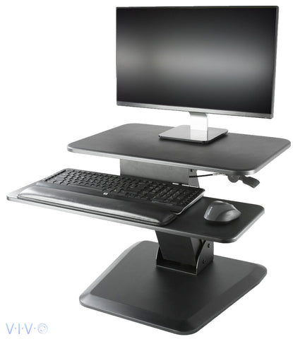 VIVO Height Adjustable Standing Tabletop Desk Riser Desk Gas Spring Riser | Tabletop Sit to Stand Workstation - DESK-V000G -  Vivo - Standing Desk - Desk Converter