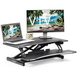 "Standing Health - VIVO Black Electric Height Adjustable Standing Desk Workstation Converter 31"" - DESK-V000ME -  Vivo - Standing Desk - Desk Converter"