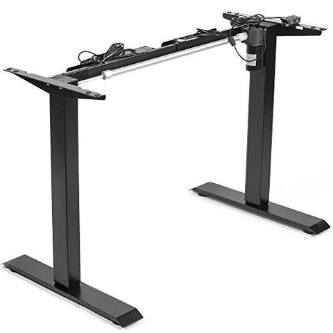 Standing Health - VIVO Black Electric Stand Up Desk Frame, Single Motor Standing Adjustable Base - DESK-V100EB -  Standing Health - Standing Desk - Desk Converter