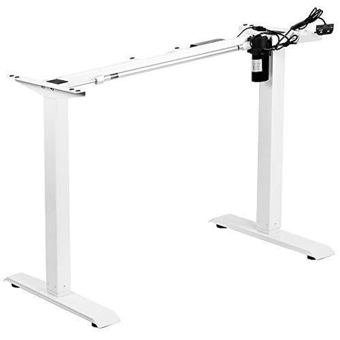 Standing Health - VIVO White Electric Stand Up Desk Frame, Single Motor Standing Adjustable Base - DESK-V100EW -  Vivo - Standing Desk - Desk Converter