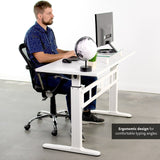 Standing Health - Manual Crank Stand Up Height Adjustable Desk Frame Workstation with Table Top - DESK-V100MW -  Vivo - Standing Desk - Desk Converter