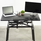 Standing Health - VIVO Black Electric Sit to Stand Height Adjustable Desk Frame with Tabletop - DESK-V100ZE -  Vivo - Standing Desk - Desk Converter
