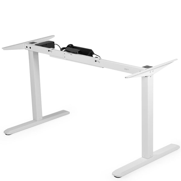 Standing Health - VIVO White Electric Stand Up Desk Frame Single Motor Standing Height Adjustable - DESK-V102EW -  Vivo - Standing Desk - Desk Converter