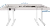VIVO White Electric Stand Up Desk Frame Single Motor Standing Height Adjustable DESK-V110EW VIVO -  Vivo - Standing Desk - Desk Converter
