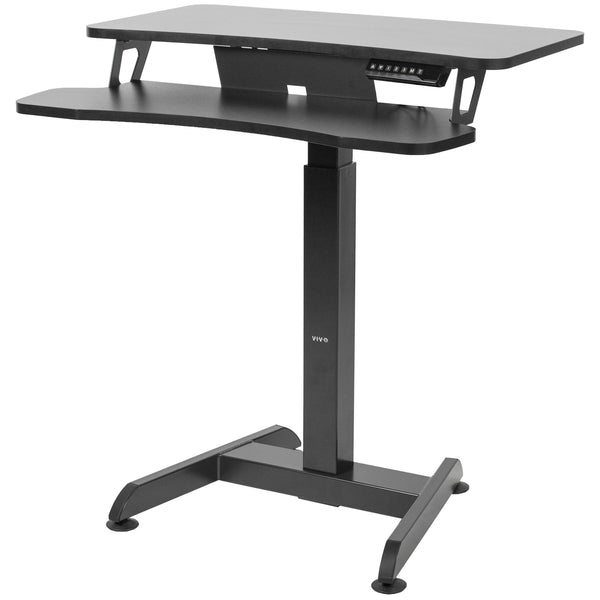 Standing Health - VIVO Black Electric Height Adjustable Tall Standing Desk Monitor Sit Stand - DESK-V111B -  Vivo - Standing Desk - Desk Converter