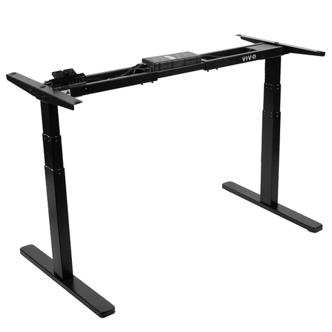 Standing Health - VIVO Black Electric Stand Up Desk Frame Motor Standing Height Adjustable Legs - DESK-V120EB -  Vivo - Standing Desk - Desk Converter