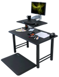 iMovR Cadence Express Standing Desk Converter with Single or Dual Monitor Mount -  iMovR - Standing Desk - Desk Converter