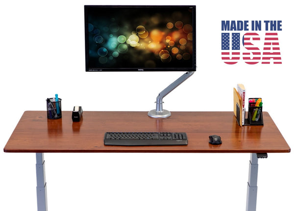"iMovR Lander Lite Standing Desk Solid Wood Top - Single Stage / 2 Segment / 27.35"" to 47.5"" height - LN2b-REAA3041w-T -  iMovR - Standing Desk - Desk Converter"