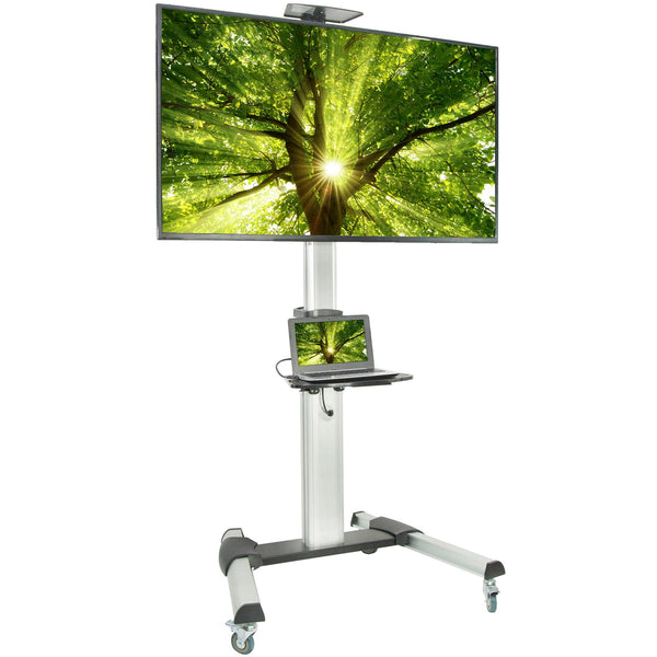 "Standing Health - Silver Mobile Cart for 37"" to 70"" TVs - STAND-TV09 -  Vivo - Standing Desk - Desk Converter"