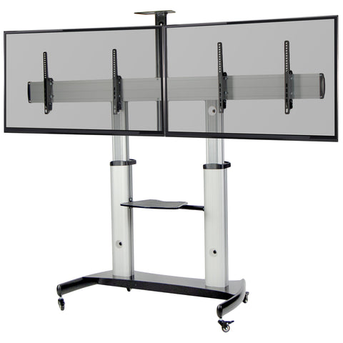 "Standing Health - Aluminum Mobile Cart for 37"" to 60"" TVs - STAND-TV12H -  Vivo - Standing Desk - Desk Converter"