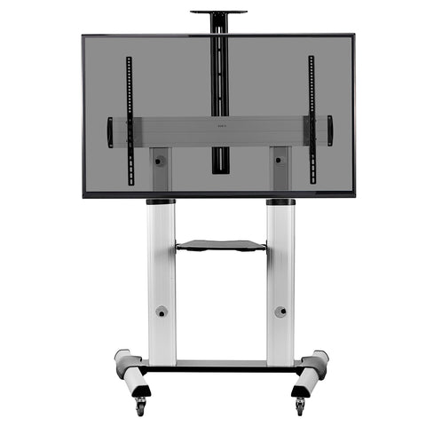 "Standing Health - Silver Mobile Cart for 60"" to 100"" TVs - STAND-TV22S -  Vivo - Standing Desk - Desk Converter"