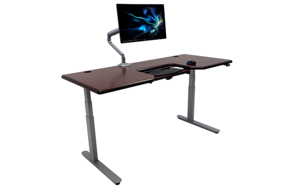 Standing Health - iMovR - Lander Desk with SteadyType Solid Wood Top - LS1b-RECA3041w-T -  iMovR - Standing Desk - Desk Converter