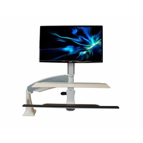 iMovR Cadence Standing Desk Converter with Single or Dual Monitor Mount -  iMovR - Standing Desk - Desk Converter