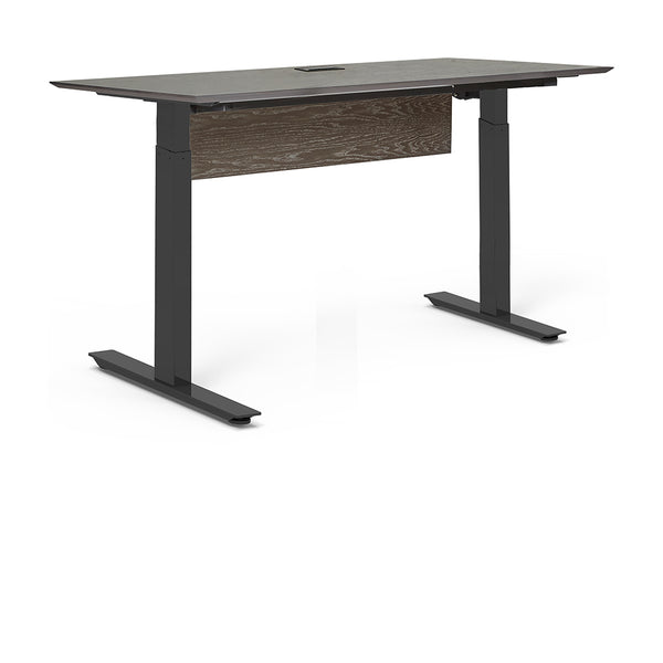 "Unique Furniture - Oslo 63"" Electric Standing Desk - O6330SS-GREY -  Unique Furniture - Standing Desk - Desk Converter"