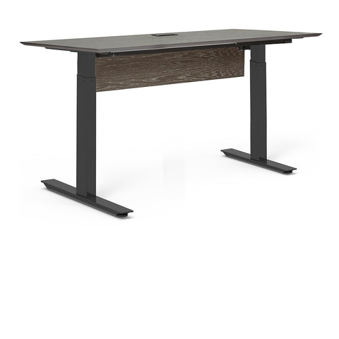 "Standing Health - Unique Furniture - Oslo 71"" Electric Standing Desk - O7130SS-GREY -  Unique Furniture - Standing Desk - Desk Converter"