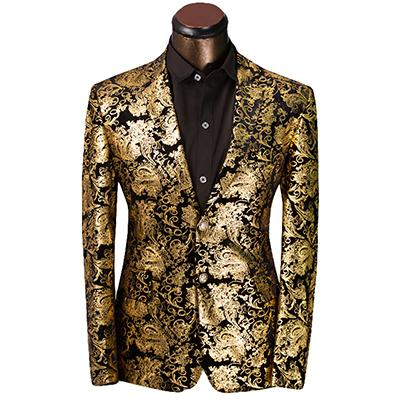 2017 Luxury Men Suit Tuxedo Blazer Slim Fit Suit Unique Mens Male Blazers Dress Jackets Wedding Party Shows Dress Costume