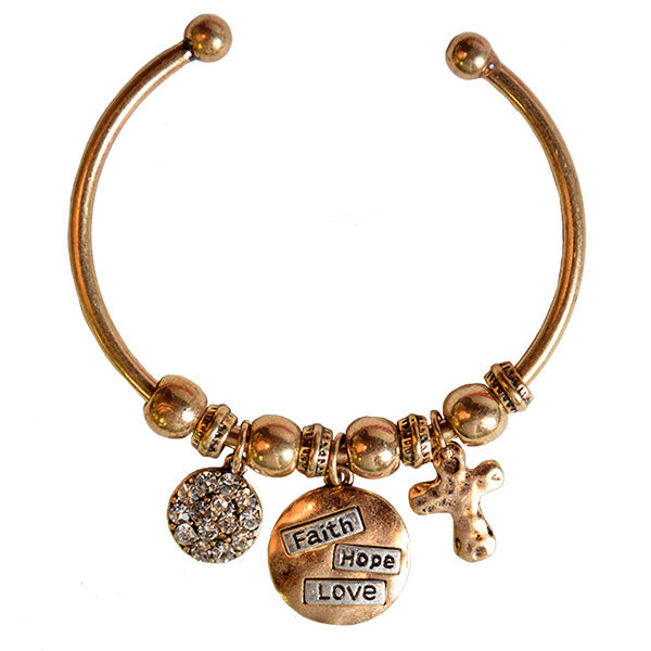 Faith Gear Women's Bracelet - Faith Hope Love