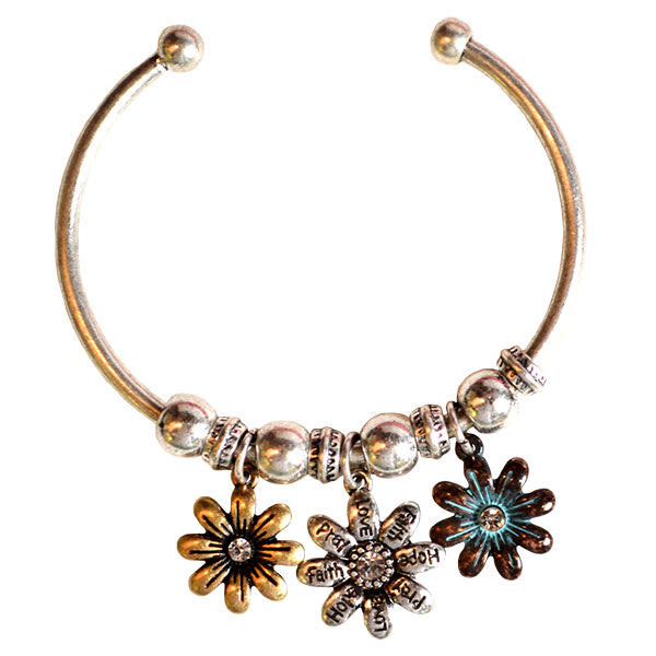 Faith Gear Women's Bracelet - Flowers