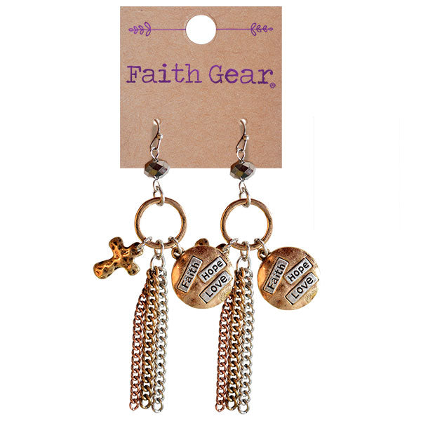 Faith Gear Women's Earrings - Faith Hope Love