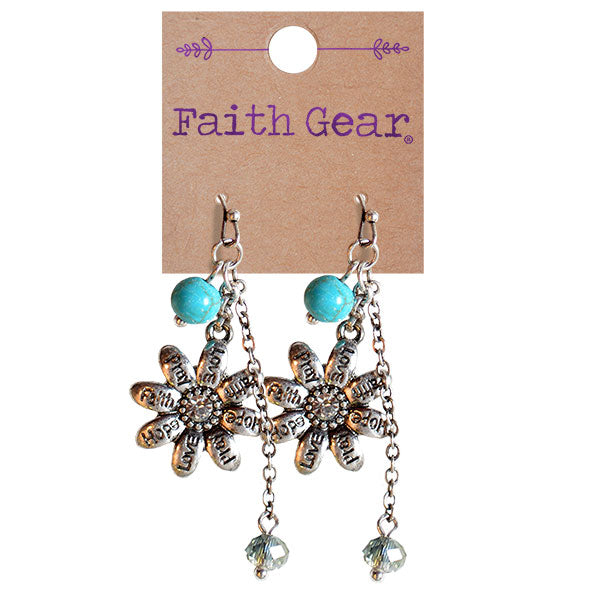Faith Gear Women's Earrings - Flowers