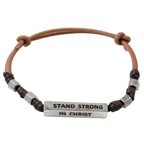 Guy's Bracelet - Stand Strong In Christ