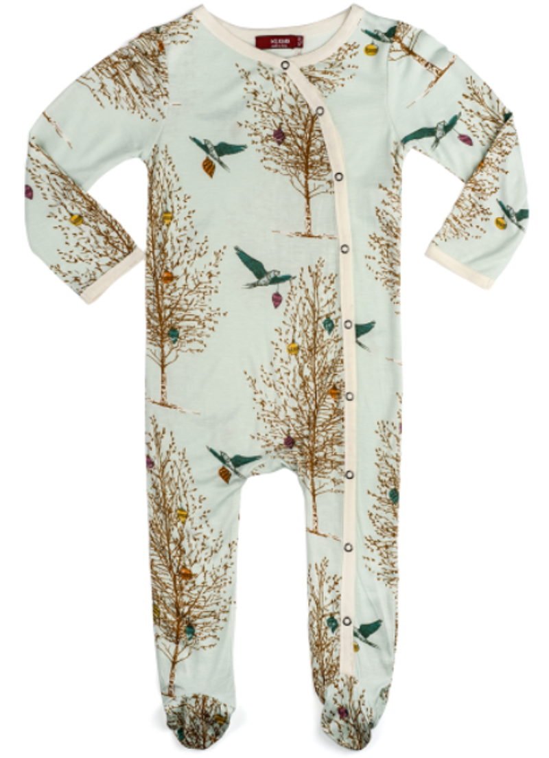 0634893cc Christmas Birds Bamboo Pajamas (Footed) – trendytotboutique