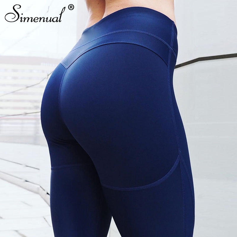 Simenual Women heart legging push up sporty high waist active wear bodybuilding workout leggings fitness athleisure pants female