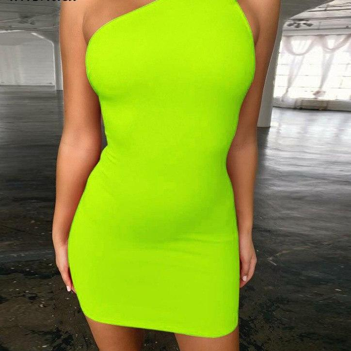 Myhotstuff Sexy One Shoulder Backless Body-con Dress