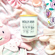 Baby Birth Stats Candle