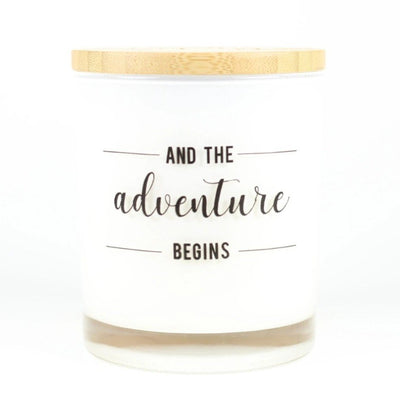 And The Adventure Begins Candle