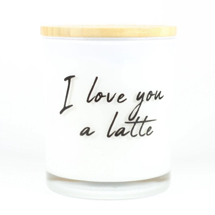 I love you a latte candle