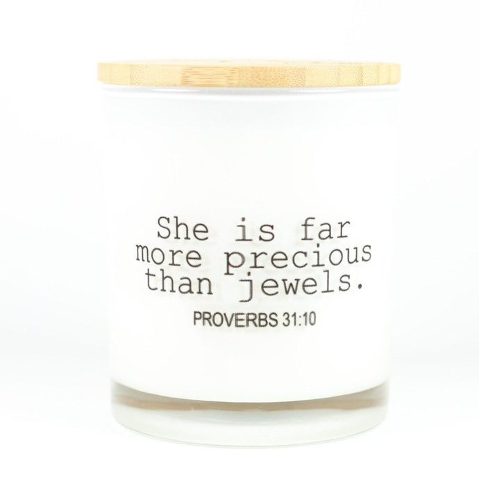 MORE PRECIOUS THAN JEWELS CANDLE