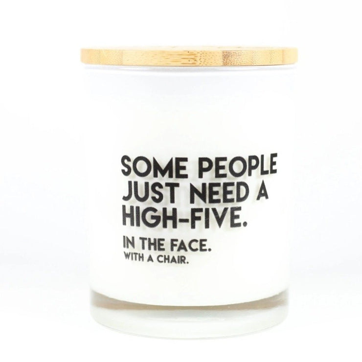 Some People Just Need A High Five Candle