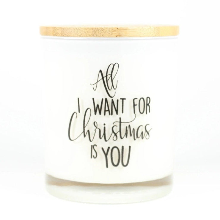 ALL I WANT FOR CHRISTMAS IS YOU CANDLE