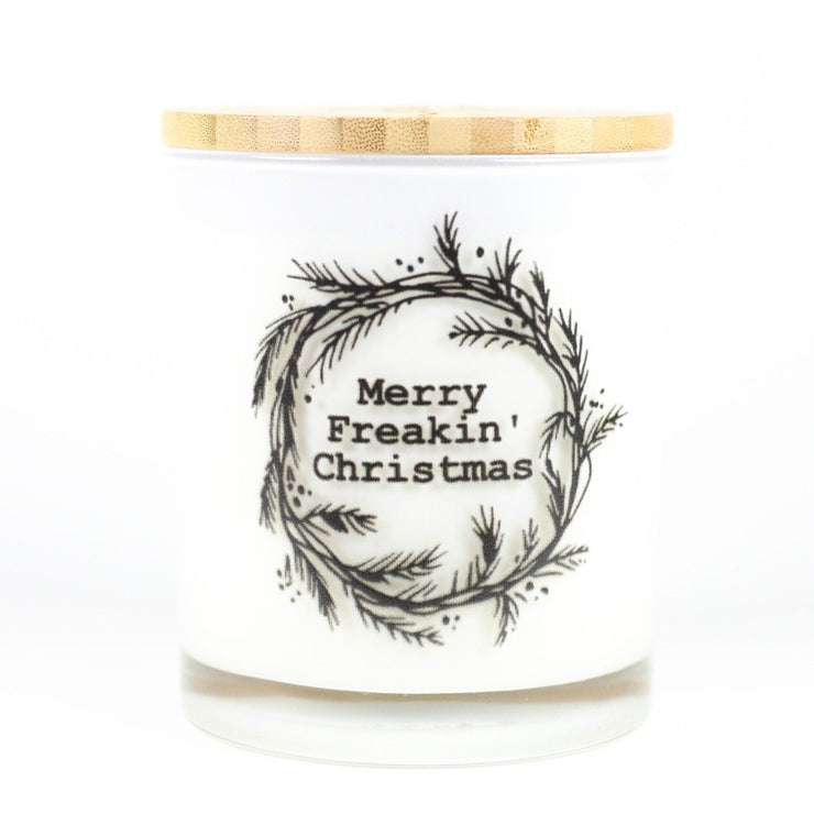 Merry Freakin' Christmas Candle