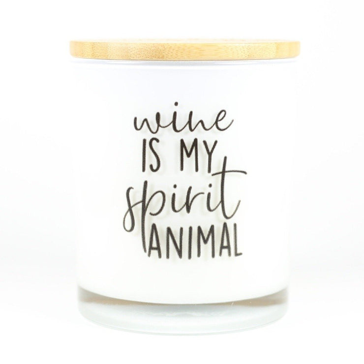 Wine is my Spirit Animal Candle