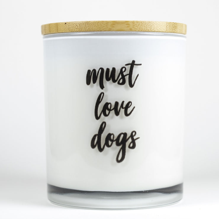 Must Love Dogs Candle