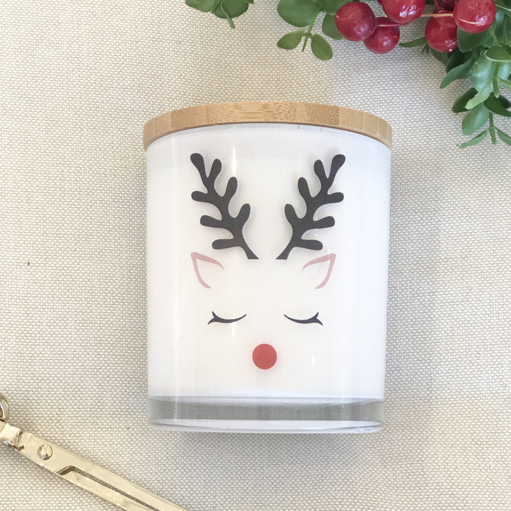 Rudolph the Reindeer Candle