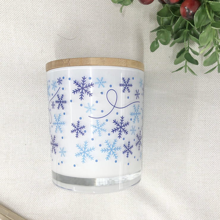 Snowflake Snow Flurry Winter Candle