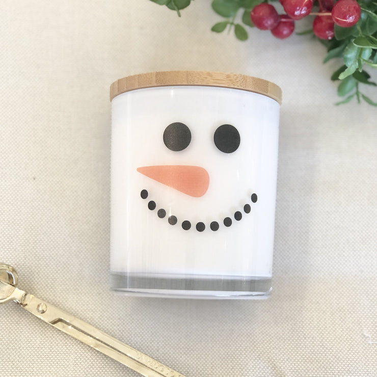 Snowman Holiday Candle
