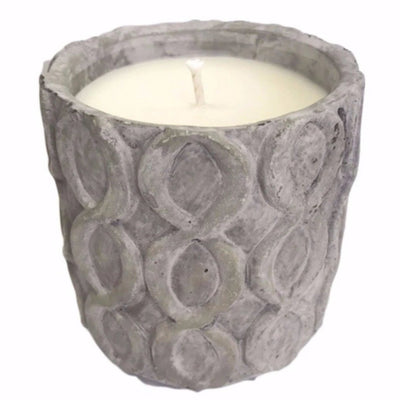 Grey Stone Candle Top View