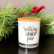 Resting Grinch Face Candle