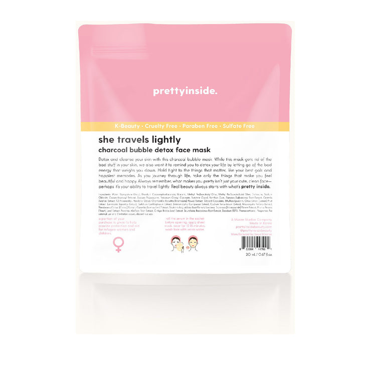 PRETTYINSIDE CHARCOAL BUBBLE FACE MASK